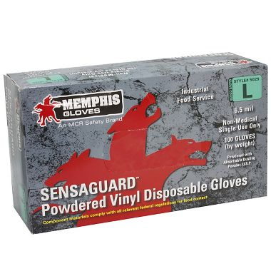 Heavy Duty Vinyl Gloves, 6.5 Mil Lightly Powdered, 100/box