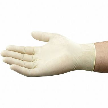 Exacto Disposable 4 Mil Latex Gloves, Lightly Powdered