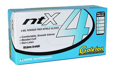 ntX Disposable Gloves, Powder Free