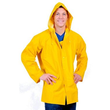 Repel Rainwear™ 0.35mm PVC/Polyester Rain Jacket with Detachable Hood