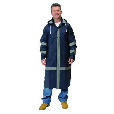 Repel Rainwear™ 0.35mm PVC/Polyester Reflective Raincoat, 46 Inch