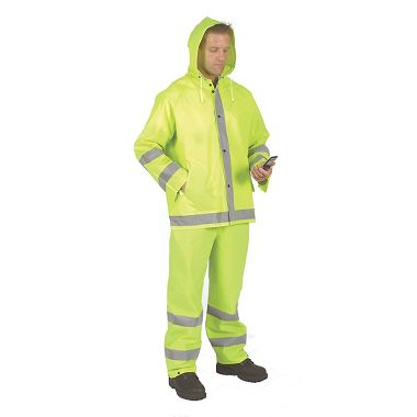 Repel Rainwear™ 0.35mm PVC/Polyester Reflective Rain Suit