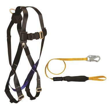 Lightweight Harness with Shock Absorbing Lanyard
