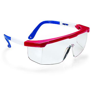 Boxer, Red, White & Blue Frame, Clear Lens