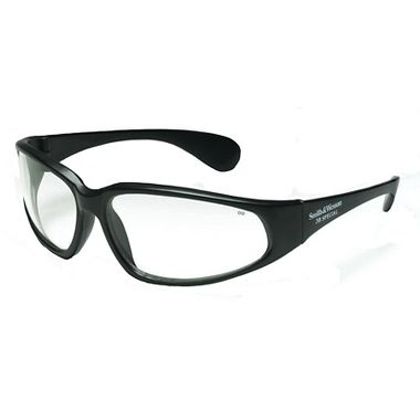 38 Special Black Frame, Clear Lens, Safety Glass