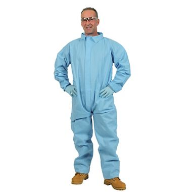 Safe N' Clean™ Professional Coveralls, Elastic Wrists & Ankles, Case of 25
