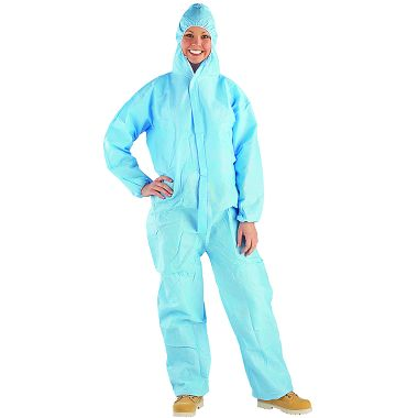 Safe N' Clean™ Professional Coveralls with Hood, Elastic Wrists & Ankles, Case of 25