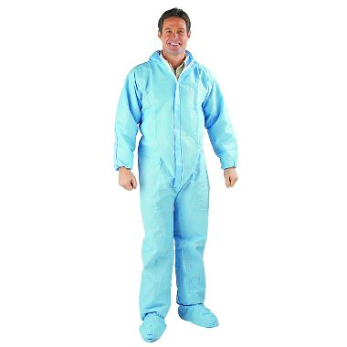 Safe N' Clean™ Professional Coverall Hood, Boots, Elastic Wrists & Ankles, Case of 25
