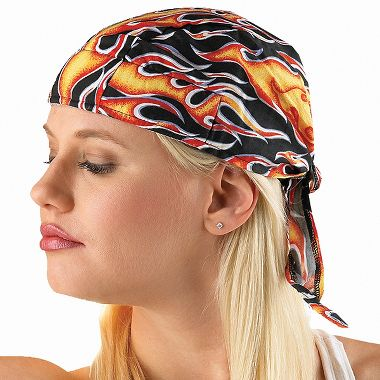 Tuff Nougies Tie-on Skull Cap with Elastic Rear Band