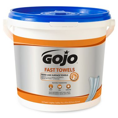 GoJo Fast Wipes, Bucket of 130