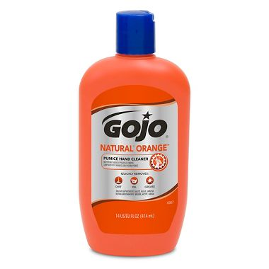 GOJO® 0957-12 NATURAL* ORANGE™ Pumice Hand Cleaner, 14 fl oz Squeeze Bottle