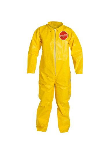 DuPont™ Tychem® 2000 Coverall, QC120SYL, Collar, Open Wrists and Ankles, Serged Seams