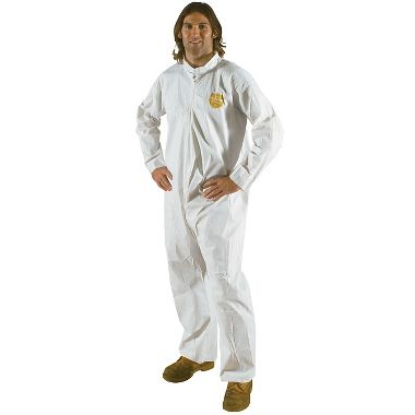 DuPont™ ProShield® 60 Coverall, NG120SWH, Collar, Open Wrists & Ankles, Serged Seams
