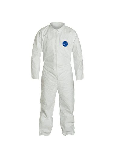 DuPont™ Tyvek® 400 Coverall, TY120SWH Open Wrists & Ankles, Elastic Waist, Serged Seams