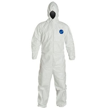 DuPont™ Tyvek® 400 Coverall, TY127S, Hood, Elastic Waist, Wrists & Ankles, Serged Seams