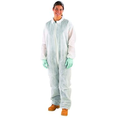 Safe N' Clean™ Coverall with Elastic Wrists & Ankles