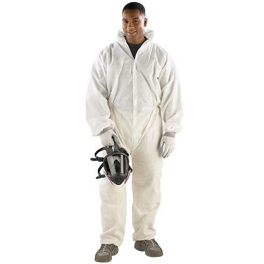 Safe N' Clean™ Coverall with Hood, Elastic Wrists & Ankles
