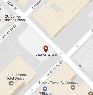 Map of Denver headquarters