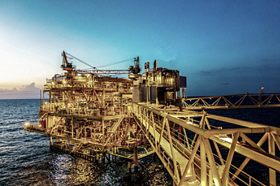 oil gas platform bottom
