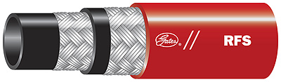Red Fire Suppressant Hose
