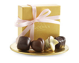 Godiva 4 pc Favor with Pink Ribbon