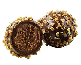 Hazelnut crunch truffle