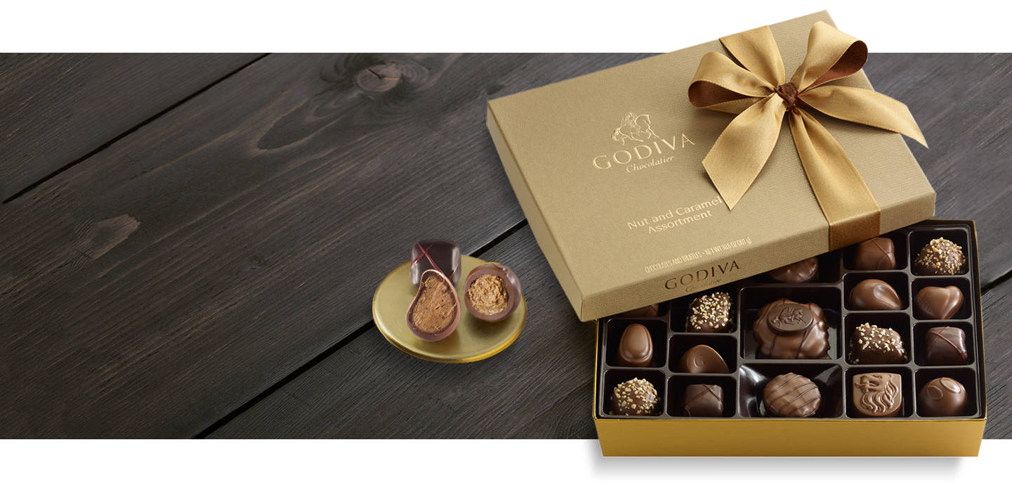Nut and caramel gift box