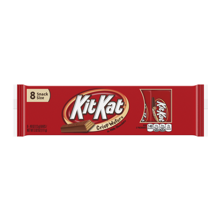 KIT KAT® Milk Chocolate Snack Size Candy Bars, 3.92 oz, 8 pack - Front of Package