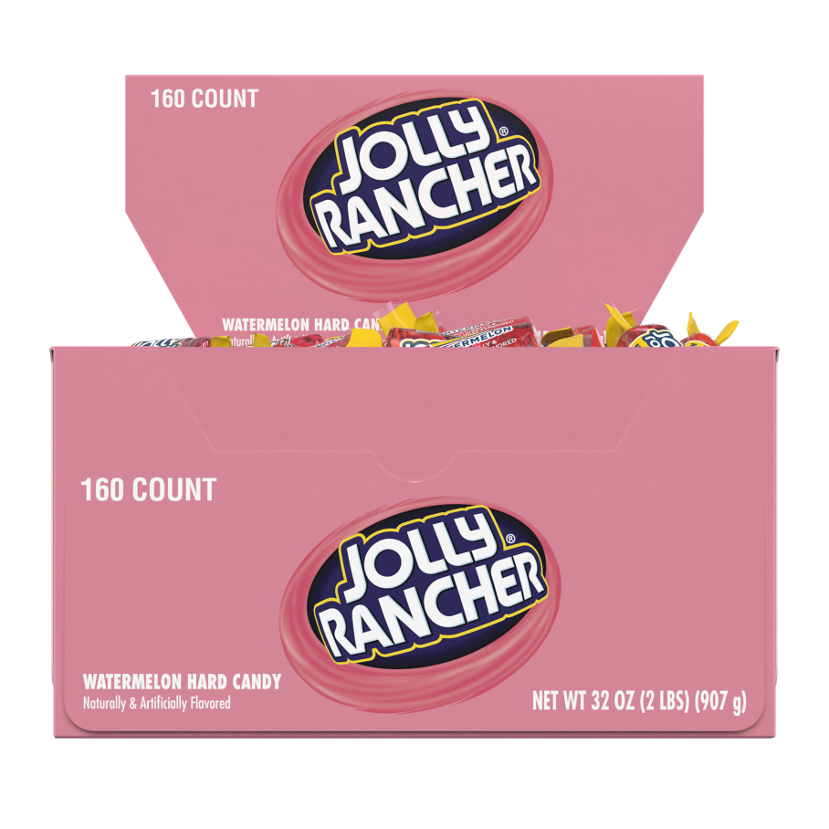 JOLLY RANCHER Watermelon Hard Candy, 32 oz box, 160 pieces - Front of Package