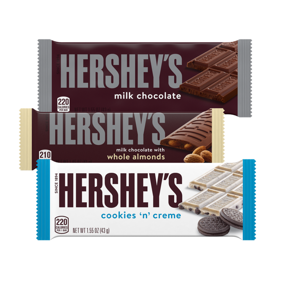 HERSHEY'S Variety Pack Candy Bars, 27.3 oz box, 18 count - Front of Package