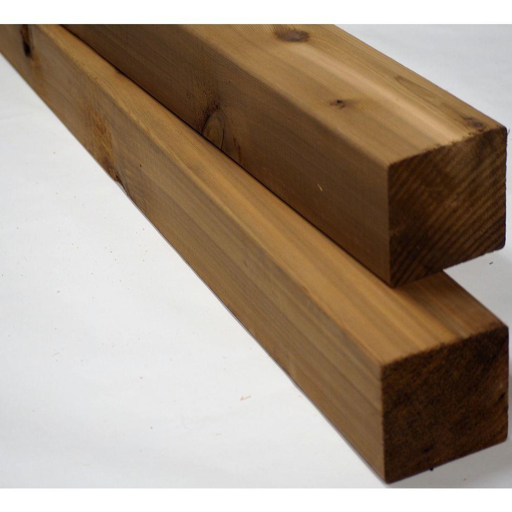 Porcupine 4-inch x 4-inch x 10 ft. Western Red Cedar S4S Post