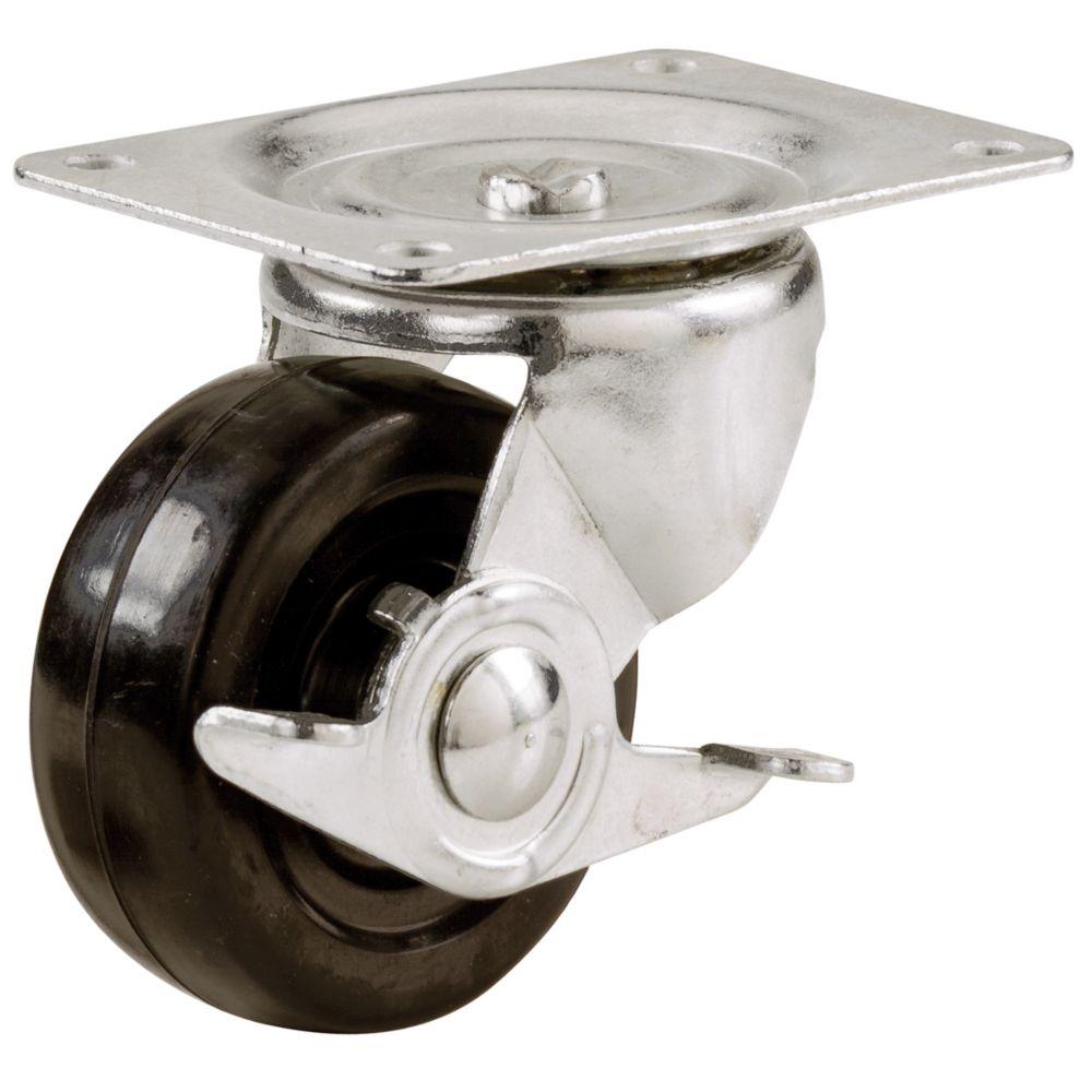 Roulette Pivotante avec frein à usage général.  64mm