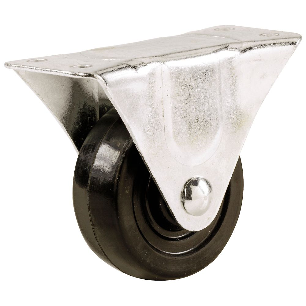 Everbilt 3 inch Soft Rubber Rigid Caster with 175 lb. Load Rating