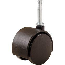Everbilt Roulettes pivotantes à tige jumelée en plastique de 50 mm avec capacité de charge de 34 kg (2 par paquet)