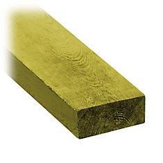 2-inch x 4-inch x 8 ft. Pressure Treated Board