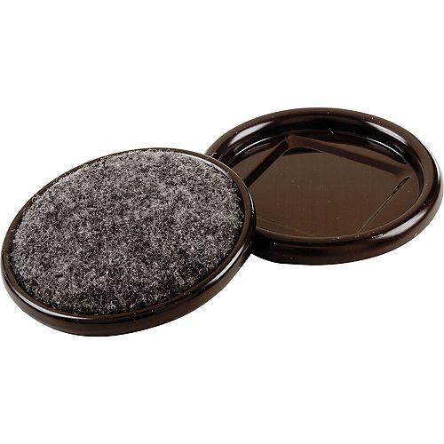 Everbilt 2-1/2-inch Metal Furniture Cups with Carpet Base (4 per Pack)