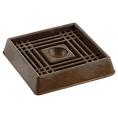 2-inch Brown Smooth Rubber Furniture Cups (4 per Pack)