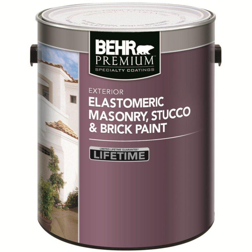 ELASTOMERIC Masonry, Stucco & Brick Paint - White, 3.67L