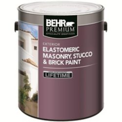 BEHR ELASTOMERIC Masonry, Stucco & Brick Paint - White, 3.67L
