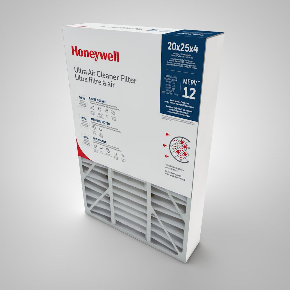 Filtre de purification de l'air de Honeywell - 20 po.x25po.x4po.