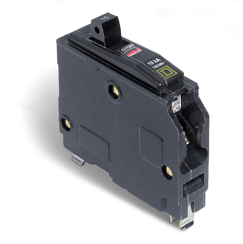 schneider electric - square d single pole 15 amp qo plug-on circuit breaker