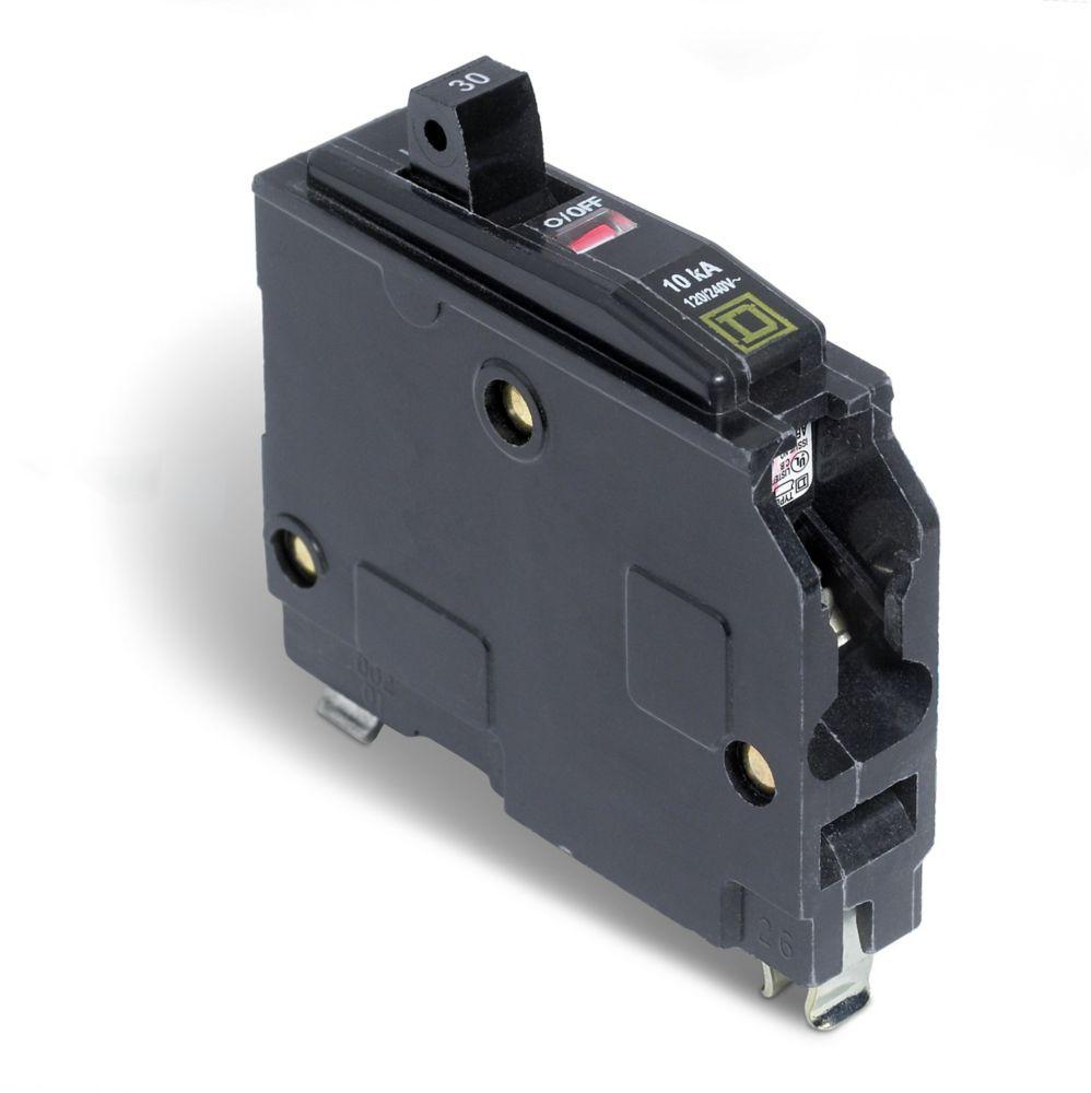 Single Pole 30 Amp QO Plug-On Circuit Breaker