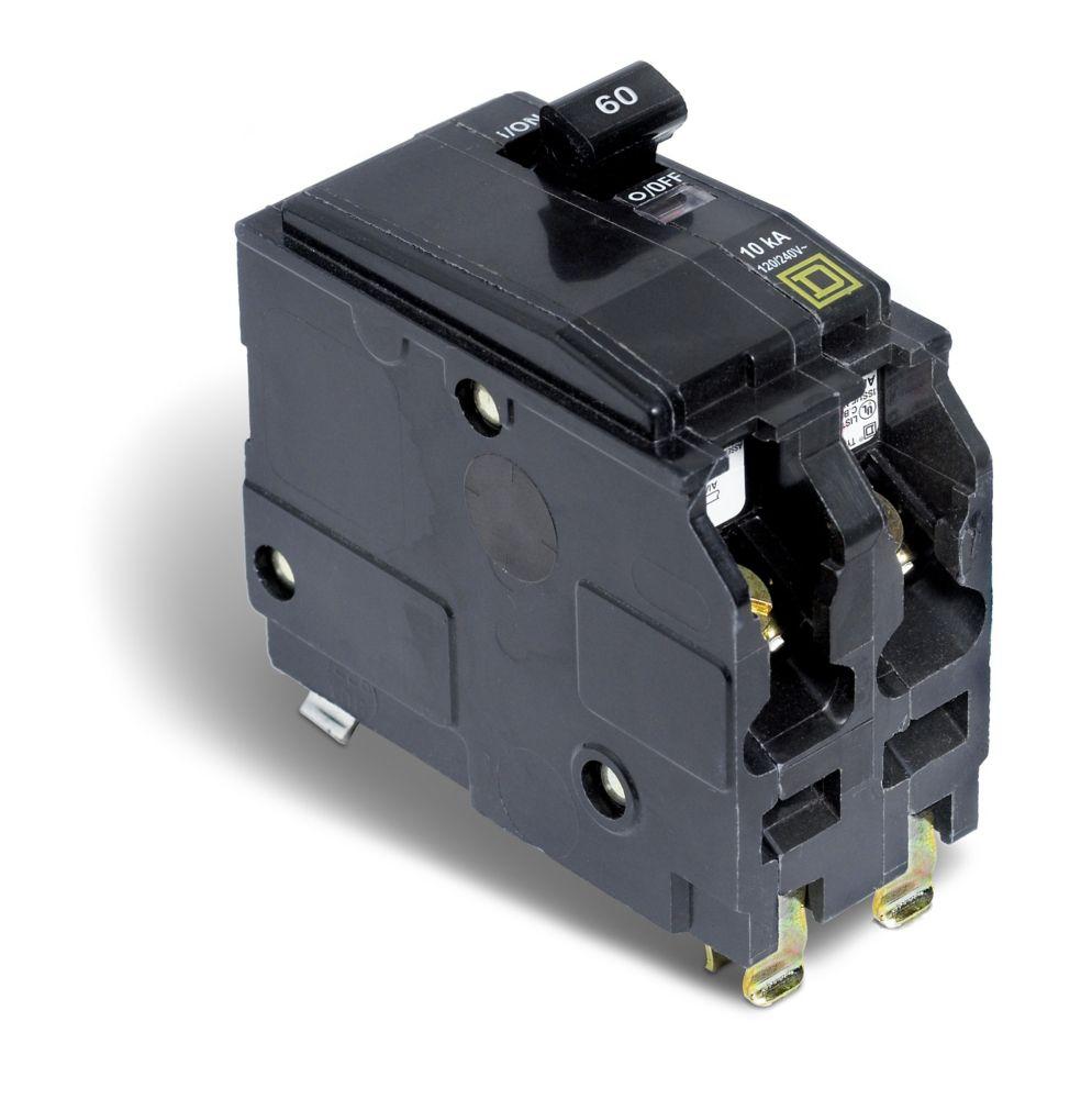 Schneider Electric - Square D Double Pole 60 Amp QO Plug-On Circuit ...