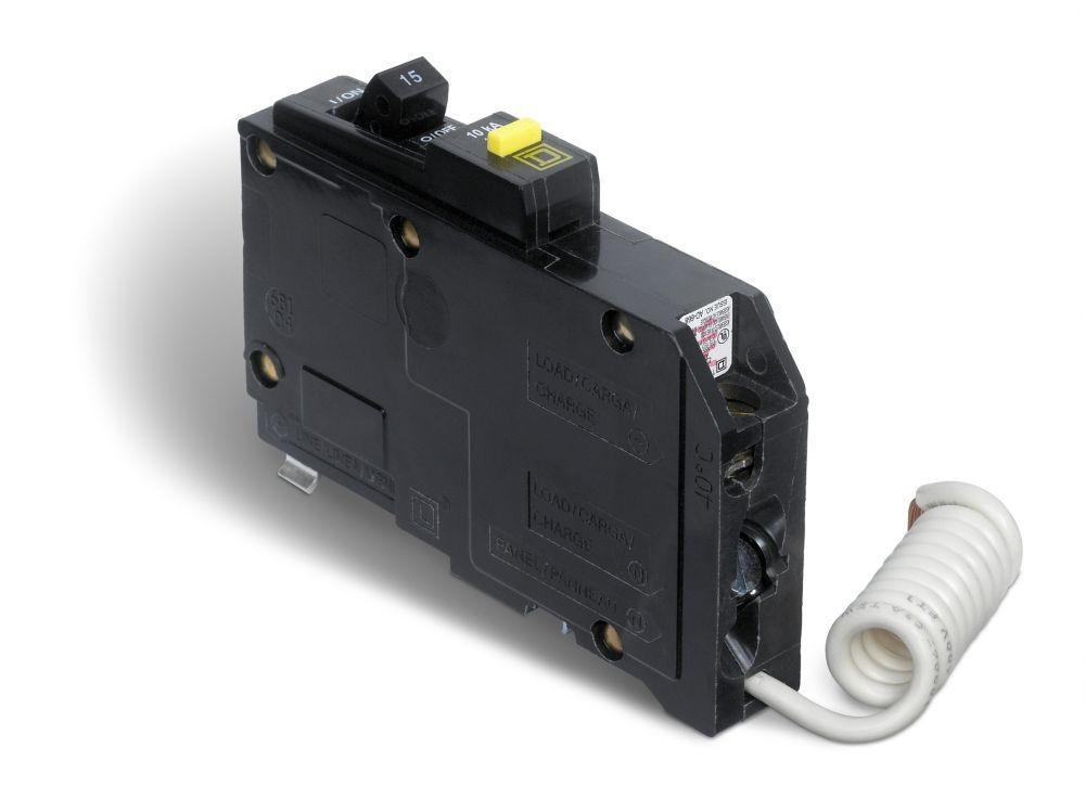 Single Pole 15 Amp QO GFCI Circuit Breaker