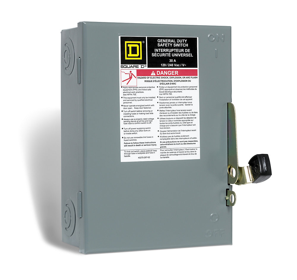 square d 30 amp general purpose safety switch - plug fuse