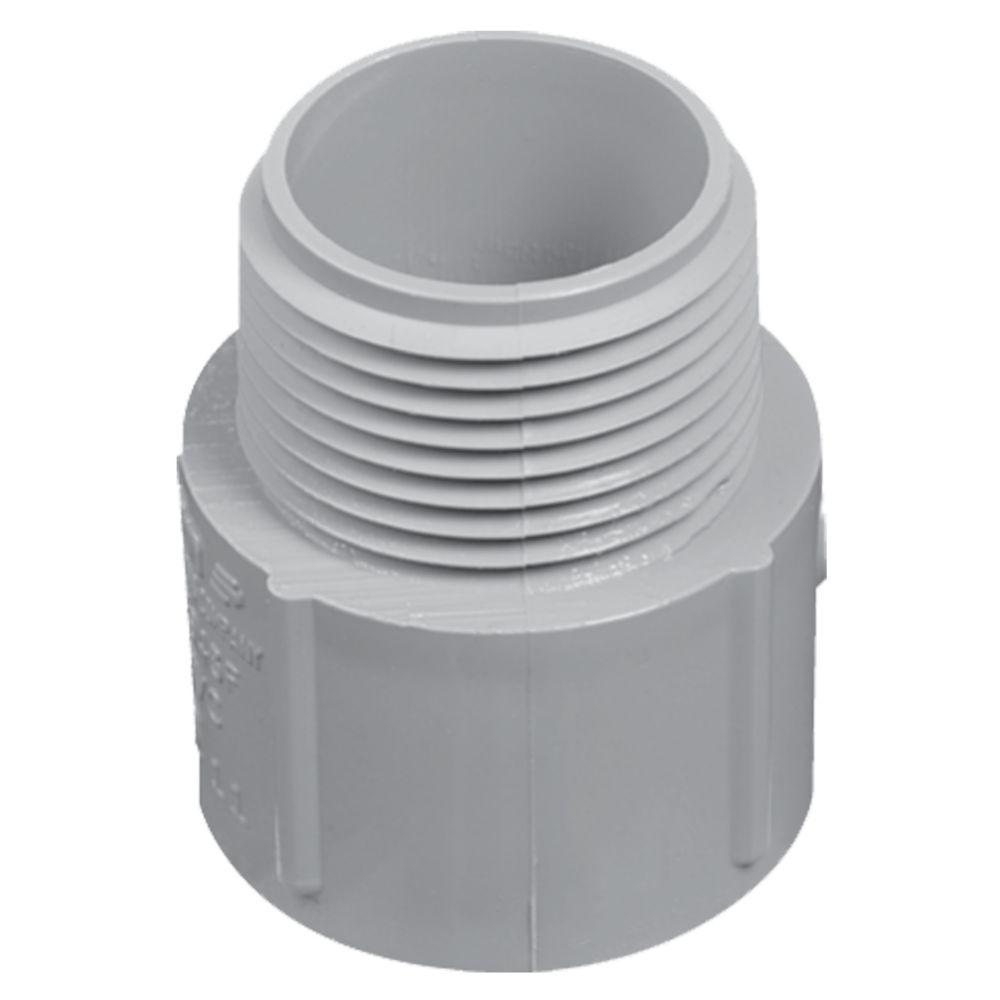 Schedule 40 PVC Male Terminal Adapter � 1/2 Inch