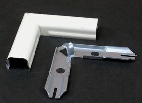 90 Degree Flat Elbow Metal Ivory