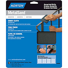 MetalSand 9-inch x 11-inch Sanding Sheets Assorted Grits (3-Pack)