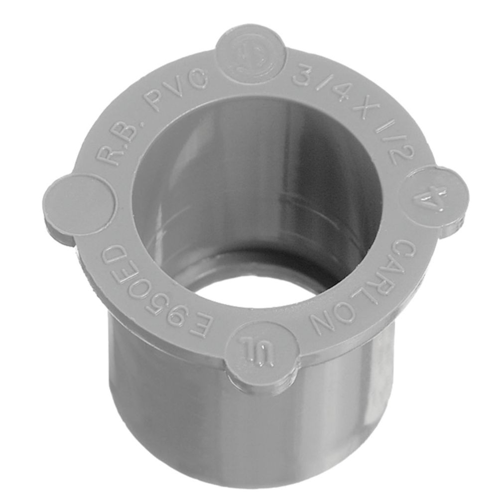 Schedule 40 PVC Reducing Bushing � 3/4 Inch to 1/2 Inch