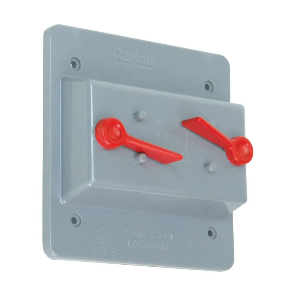 Outdoor Weatherproof  PVC Cover for Two Toggle Switch Devices